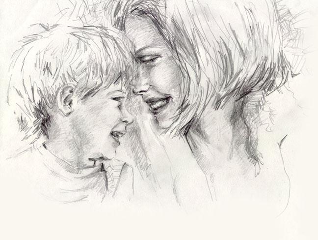 Moms and son рисунки 4